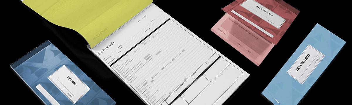 Talonarios autocopiativos personalizados