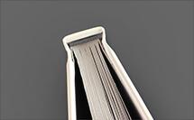 cabezada gris - acabado para libro de tapa dura en proprintweb