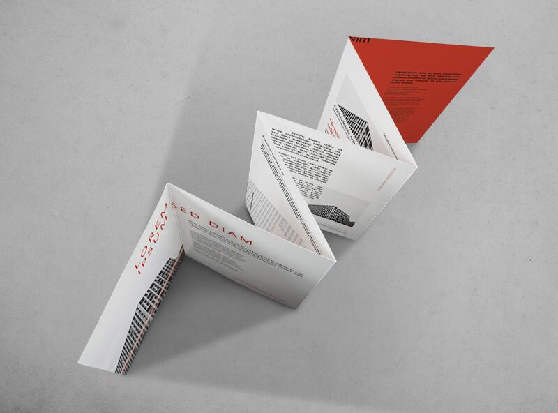 Impresión de folletos 6 cuerpos plegados en acordeón - ProPrintweb