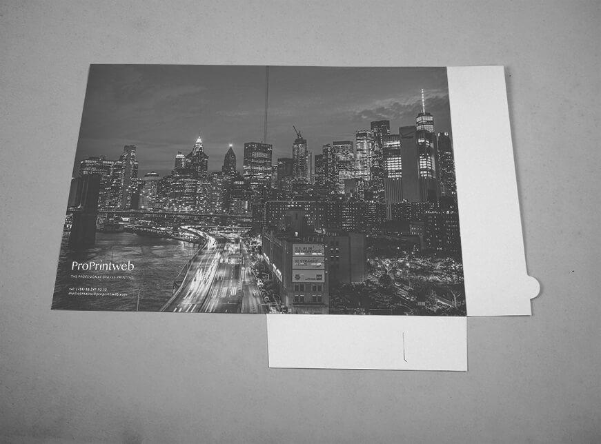 Impresión de Carpeta 230x330mm sin lomo y bolsillo automontable solapa - ProPrintweb