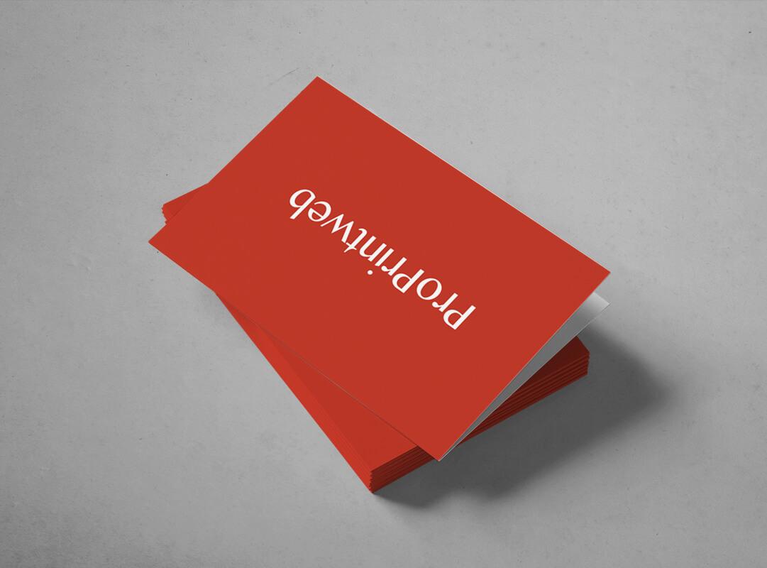 tarjeta de visita doble proprintweb