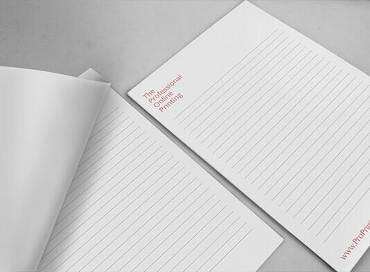 Imprimir bloc de notas sin tapa personalizable - ProPrintweb