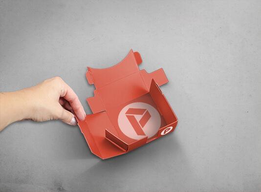 Caja automontable para taco notas - entregada en plano - ProPrintweb