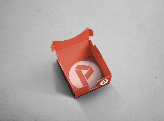 Caja automontable abierta para taco de notas (97x97 mm) - ProPrintweb