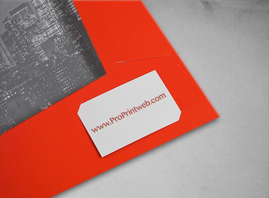Carpeta con lomo y bolsillo automontable 220x316mm cortes tarjeta - ProPrintweb