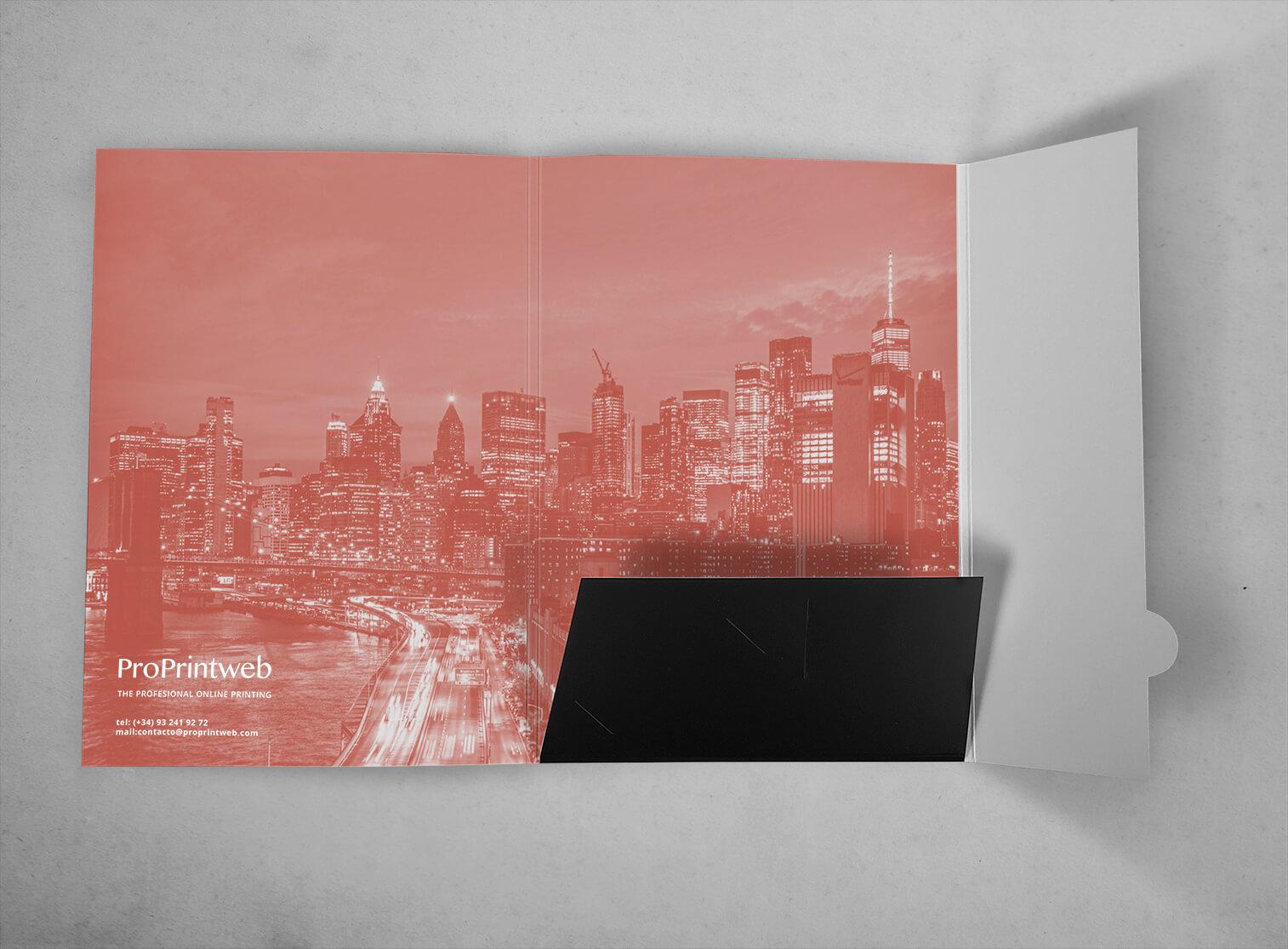 Imprenta de Carpeta personalizada con lomo y solapa automontable - ProPrintweb