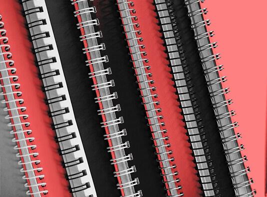Catálogos espiralado -  Elige tipo de espiral wire-o y continuo y color