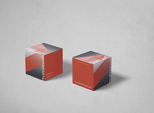 Imprimir Cubo Automontable Cuadrado120x120 mm - Montado