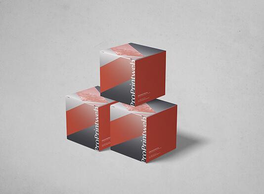 Impresión de Cubo en papel Automontable Cuadrado120x120 mm - ProPrintweb