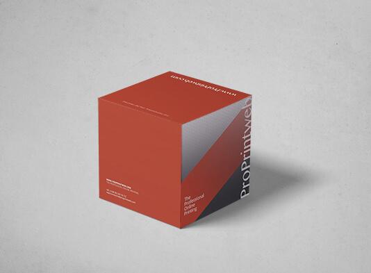Cubo automontable 20x20 montado con portafolletos - ProPrintweb