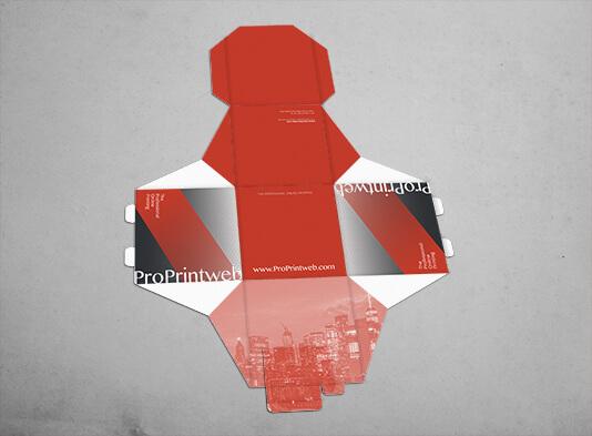 Cubo automontable 20x20 entregada troquelado en plano - ProPrintweb