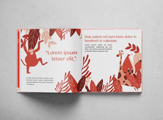 Impresión de cuentos infantiles con tapa dura abierto - ProPrintweb