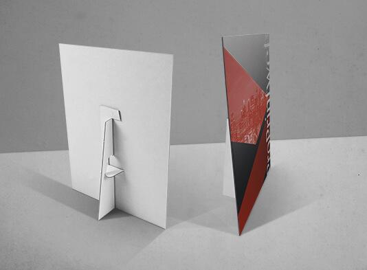 Imprimir display encolada con peana abatible - ProPrintweb