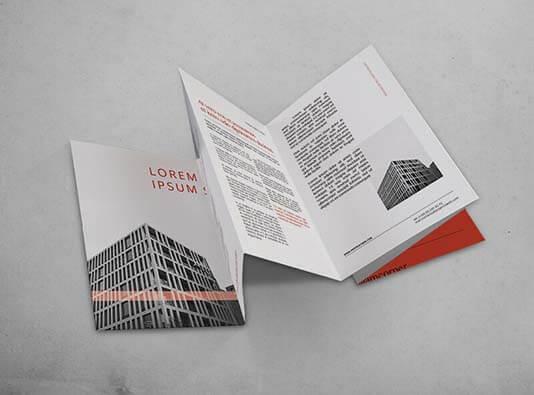 Impresión folleto 6 cuerpos plegados tipo acordeón - ProPrintweb