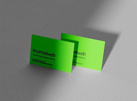 Impresión de tarjetas de visita personalizadas con tintas pantone