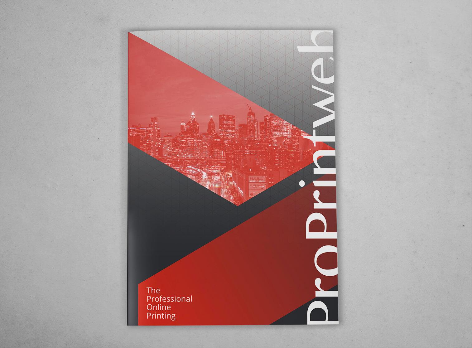 Imprimir Carpeta troquelada con lomo y bolsillo automontable - cerrada ProPrintweb