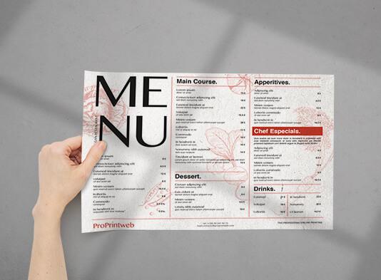 Imprimir manteles de papel restauración - ProPrintweb