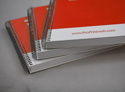Impresión Libreta tapa dura espiralada con cartón 2 mm - ProPrintweb