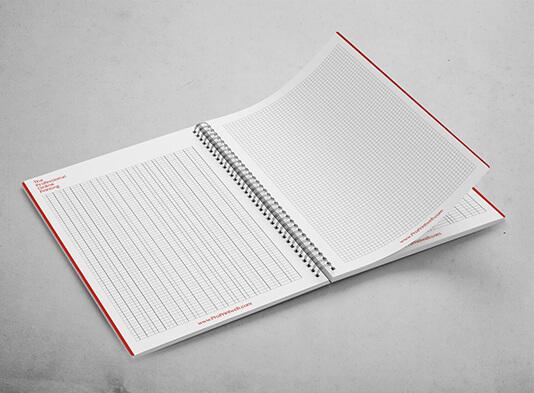 Imprimir Libretas espiraladas corporativas - interior - ProPrintweb