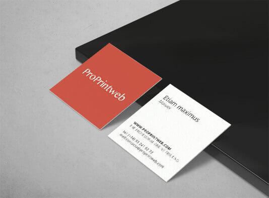 Impresión de tarjetas-visitas-cuadrada-ProPrintweb