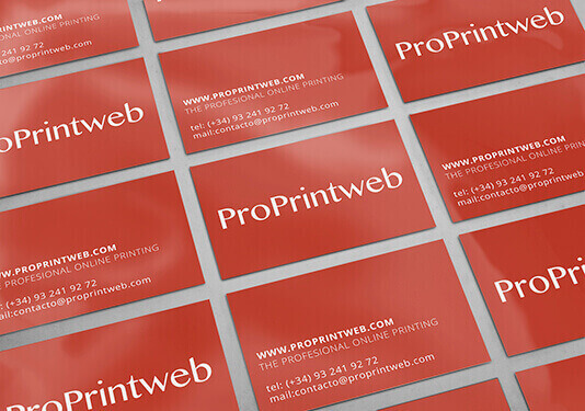 tarjeta de visita plastificada cara y dorso proprintweb