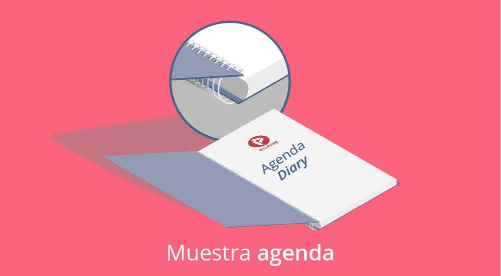 Agendas mini rojo