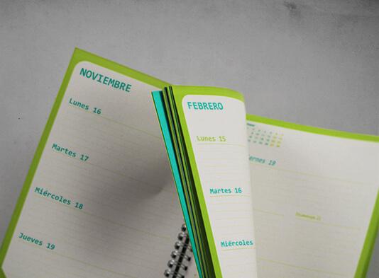 Impresión de agenda Wireo paginas interiores - ProPrintweb