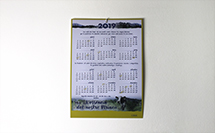 calendario de pared simple proprintweb