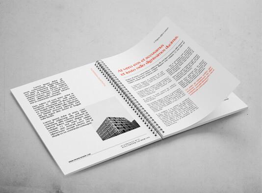 Impresión de catálogos espiralados con wire-O - páginas inteirores abiertas