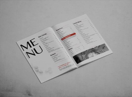 Imprimir cartas para restaurantes grapadas - ProPrintweb