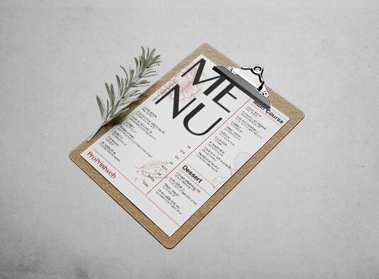 impresion de cartas simples para restaurantes en papel - ProPrintweb
