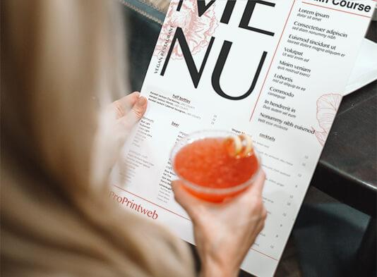 impresion de flyers para restaurantes - cartas senzillas ProPrintweb