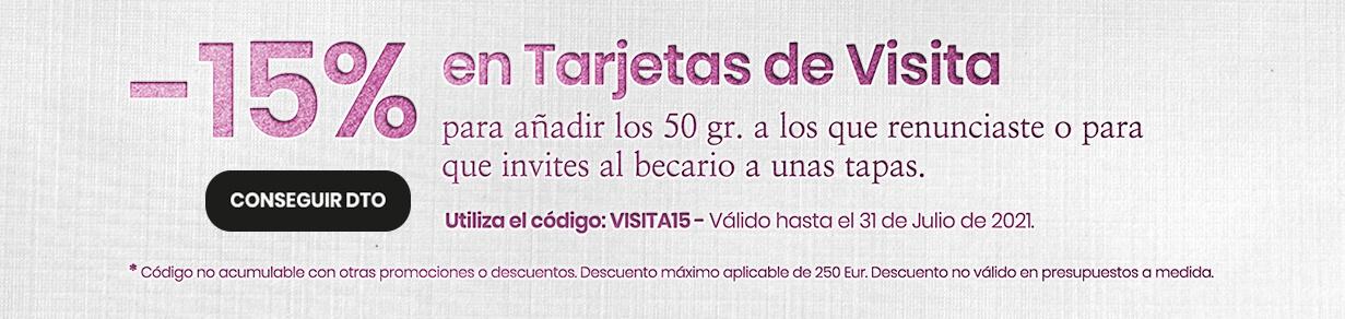 Tarjetas de visita promoción proprintweb 15 Dto hasta 31 Julio