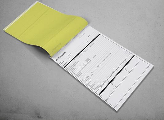 imprimir talonarios personalizados en papel autocopiante - ProPrintweb