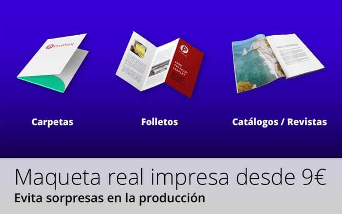 maquetas reales impresas ProPrintweb