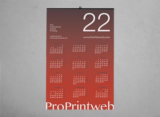 Impresión Calendario de pared con varilla colgadora ProPrintweb