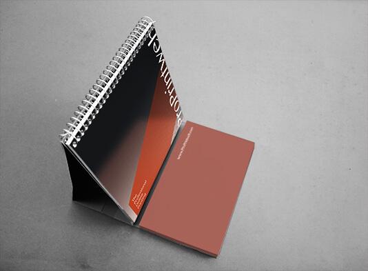 Imprimir calendario espiralado con bloc de notas