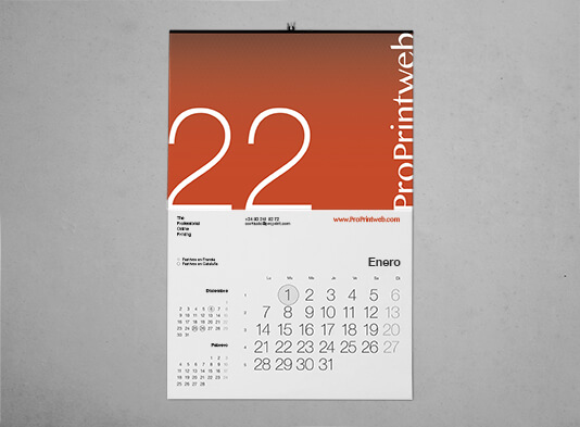 Imprimir calendario pared colgador varilla - ProPrintweb