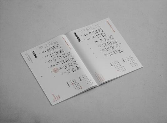 Imprimir calendario pared grapado con agujero - ProPrintweb