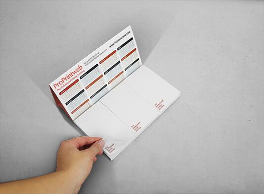 Calendario sobremesa con bloc de notas - ProPrintweb