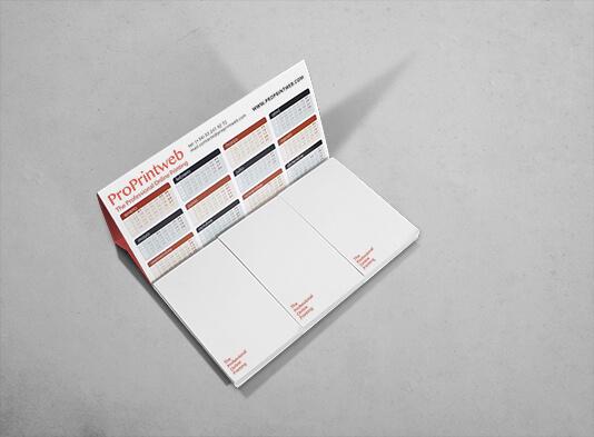 Imprimir calendario personalizado mesa con bloc de notas