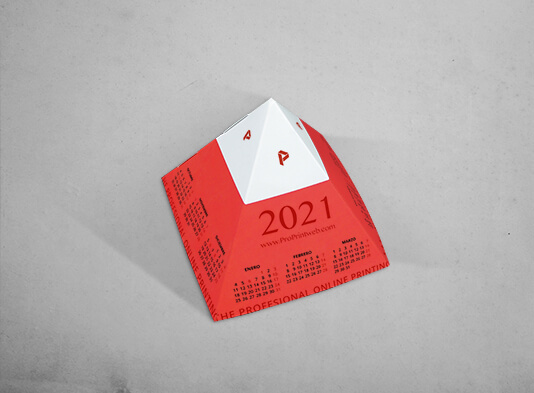 Imprimir Calendario_Piramide_automontable_montada personalizado - ProPrintweb