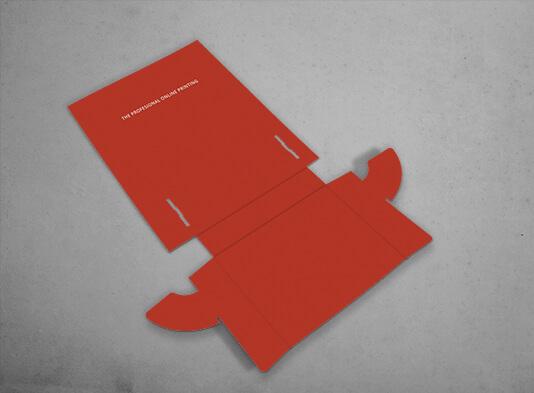 Display automontable de cartón con bolsillo para folletos A5 - entregado en plano
