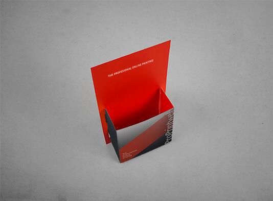 Imprimir Expositor folletos 10x21 cm automontable ya montado
