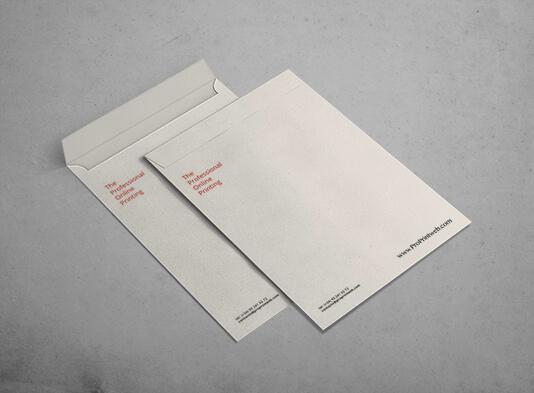 Impresión sobres A4 - cierre autodex y solapa recta en lado corto - ProPrintweb