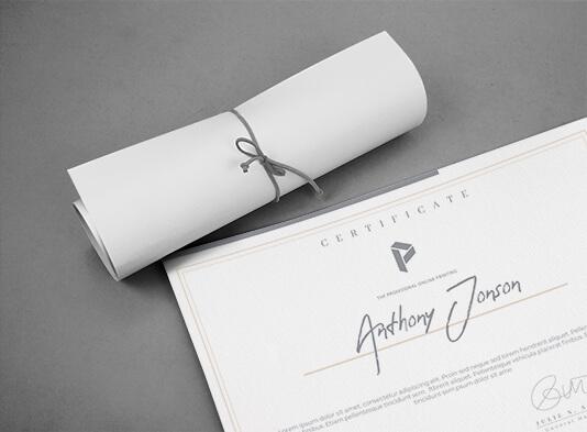 Impresión de Diplomas personalizados online - ProPrintweb