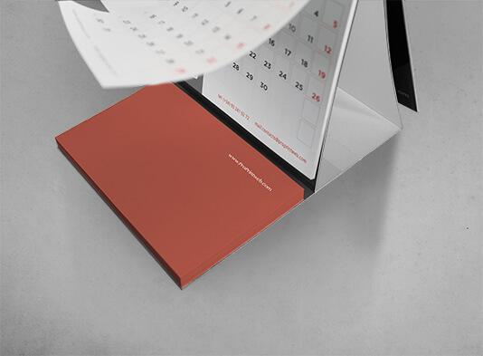 Imprimir calendario sobremesa espiralado con bloc - ProPrintweb