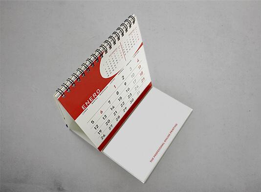 Impresión calendario sobremesa wireo + bloc notas para escribir