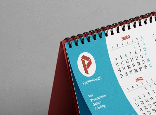 Calendari-sobremesa-espiral con peana - wire-o negro - ProPrintweb