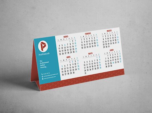 Imprimir calendario de mesa personalizado encolado - ProPrintweb